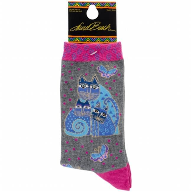 Laurel Burch Socks-Indigo Cat - image 1 of 1