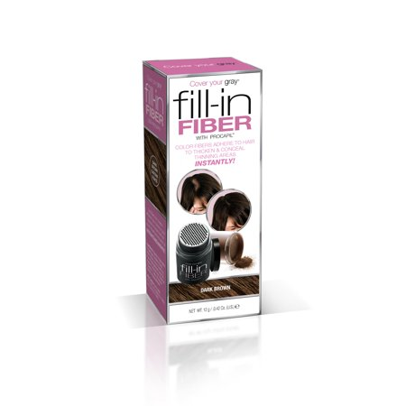 Cover Your Gray Fill-In Hair Building Fibers- DARK BROWN: Hair Fibers for Thinning Hair, Hair Powder for Bald Spots, Baldness Cover up, Beard Filler, Hair (Best Men's Grey Hair Treatment)