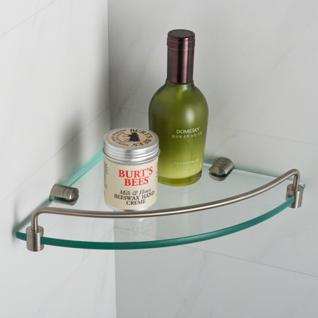 KRAUS Elie™ Corner Bathroom Shelf, Brushed Nickel (Brushed Shelf)