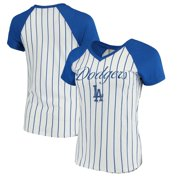 Los Angeles Dodgers Concepts Sport Women's Vigor Pinstripe T-Shirt - White/Royal