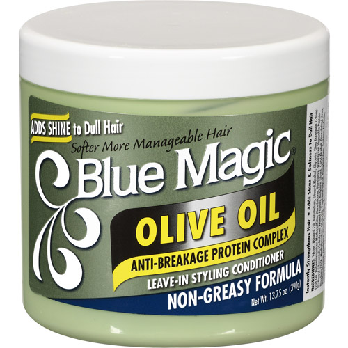 Blue Magic Olive Oil Leave-In Styling Hair Conditioner, 13.75 oz