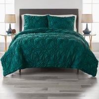 Better Homes and Gardens Elastic Pintuck 3 Piece Comforter Bedding Set