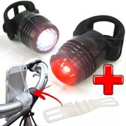 Hight Quality Bike Light Set USB Rechargeable Headlight Taillight + Smart Bicycle Phone Mount