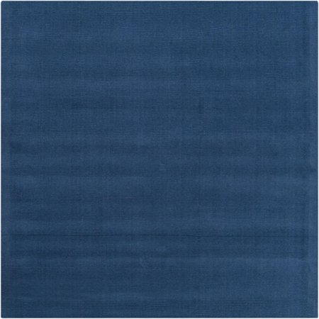 8 X 8 Rogue Love Federal Blue Hand Loomed Square Wool Area Throw Rug