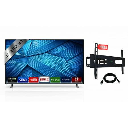 Vizio M65 C1 65 Inch 4K Ultra Hd Smart Led Tv  2015 Model   Refurbished  With Brand New Koramzi Wallmounts Kwm1278  Black