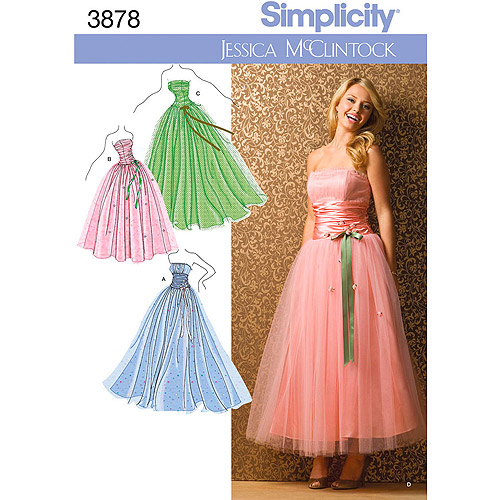 Simplicity Pattern Misses' and Miss Petite Special Occasion, (4 ,6, 8, 10, 12)