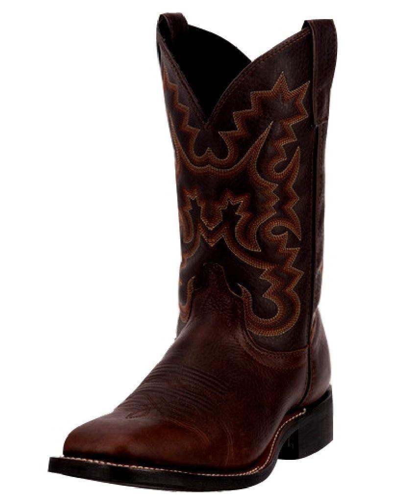 "Laredo Western Boots Mens 11"" Broad Square Toe Copper Kettle 7879 by Laredo"