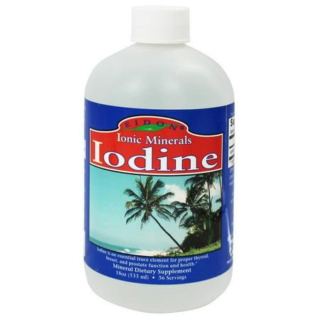 Eidon Ionic Minerals - iode liquide - 19 onces.