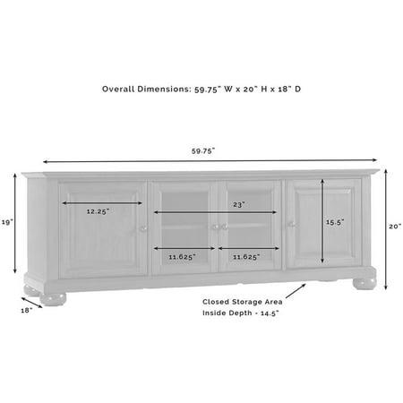 "Crosley Furniture Alexandria 60"""" Low Profile TV Stand in Black - image 3 de 5"