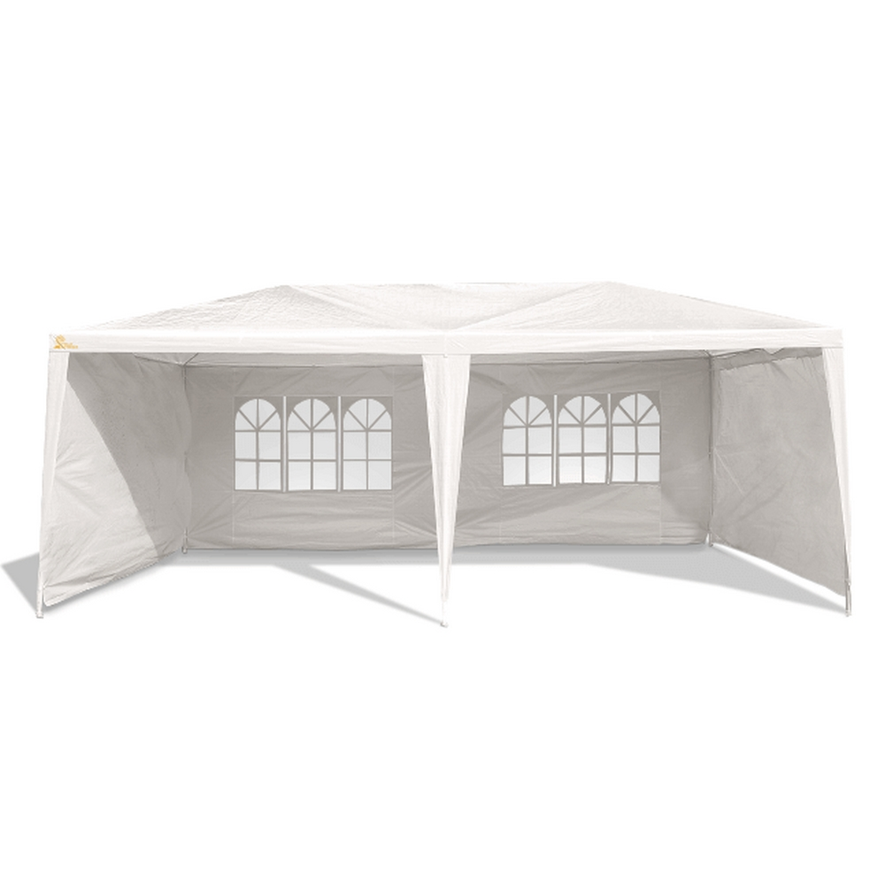 Palm Springs Outdoor 10 x 20 Wedding Party Tent Gazebo Canopy with 4 Sidewalls by