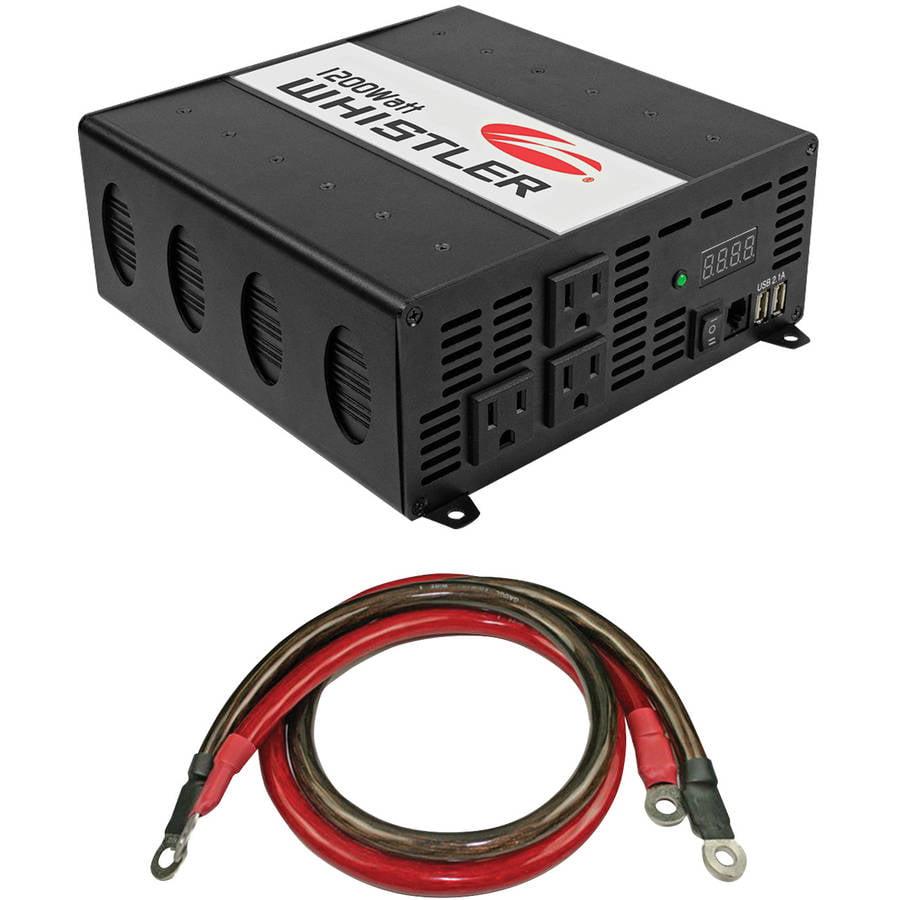 Whistler XP1200I 1,200-Watt Power Inverter and Whistler IC-1200W Inverter Cable by Whistler