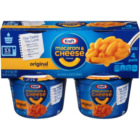 (2 Pack) Kraft Easy Mac Original Flavor Macaroni & Cheese Dinner, 4 - 2.05 oz Microwavable (7 Cheese Macaroni And Cheese Patti Labelle)