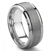 9mm tungsten carbide mens wedding band ring in comfort fit and matte finish sz 100 - Wedding Rings Mens