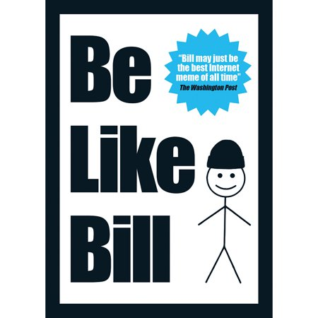 Be Like Bill Soft Cover Book w/ Over 100 Pages - Internet Meme (Halloween's Over Meme)