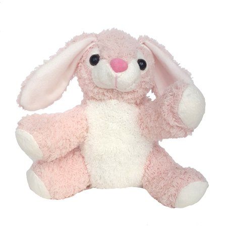 Record Your Own Plush 8 inch Pink & White Bunny - Ready 2 Love in a Few Easy Steps (Snug A Bunny)