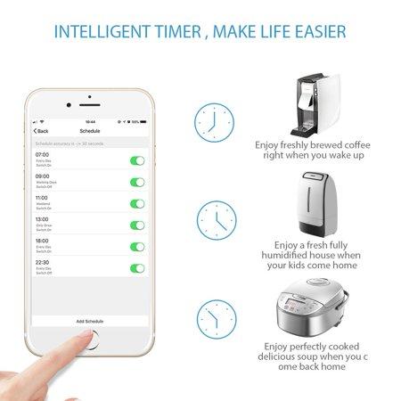 Qiilu WiFi Smart Plug, Mini Socket Outlet Compatible with
