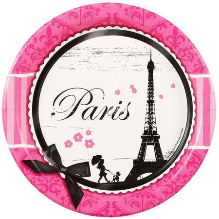 Paris Damask Dessert Plates, 8pk