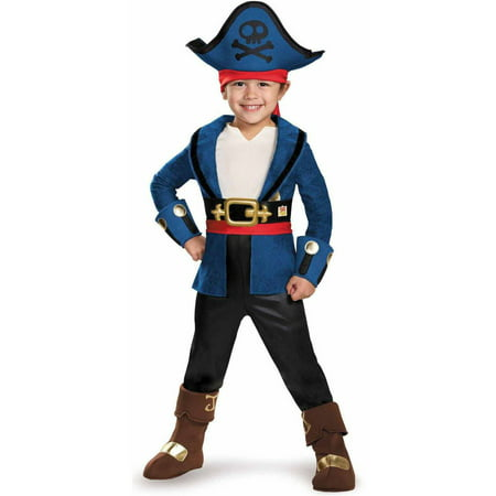 Captain Jake and the Neverland Pirates Captain Jake Deluxe Toddler Halloween Costume - Jake The Pirate Costume
