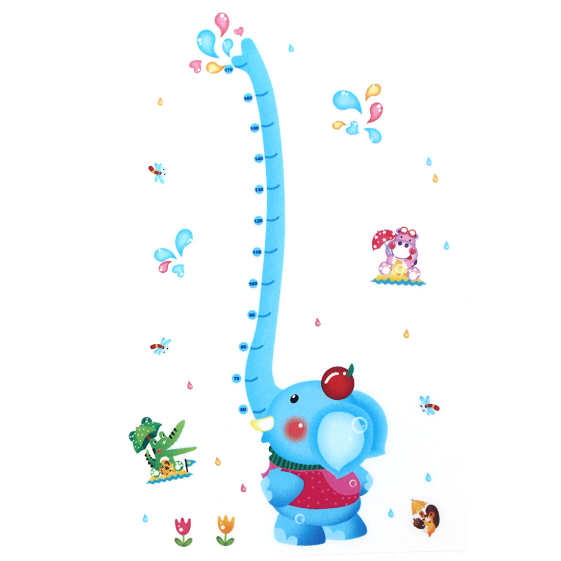 Unique Bargains  Room Cartoon Elephant Height Chart Wall Decor Sticker Decal Wallpaper