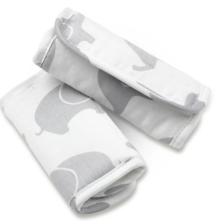 Grey Elephant Car Seat and Stroller Strap Covers by The Peanut