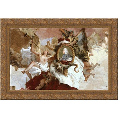 Apollo And The Continents  Detail  9  24X18 Gold Ornate Wood Framed Canvas Art By Tiepolo  Giovanni Battista