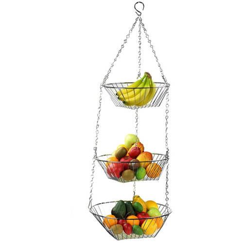 Home Basics Hanging 3-Tier Basket