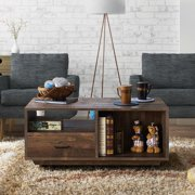 Furniture of America Mailer Rustic Reclaimed Oak Storage Coffee Table by FOA