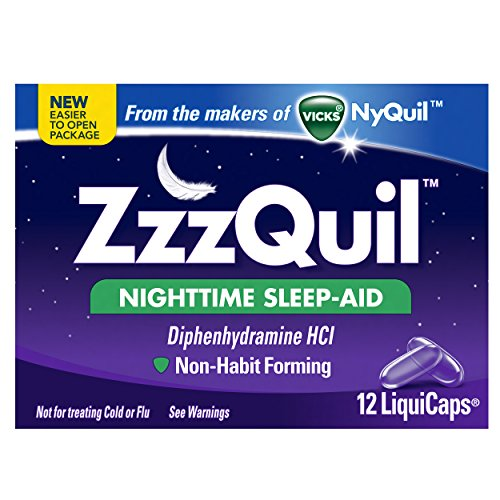 2 Pack - Zzzquil Nighttime Sleep-aid Liquicaps 12 Count Each