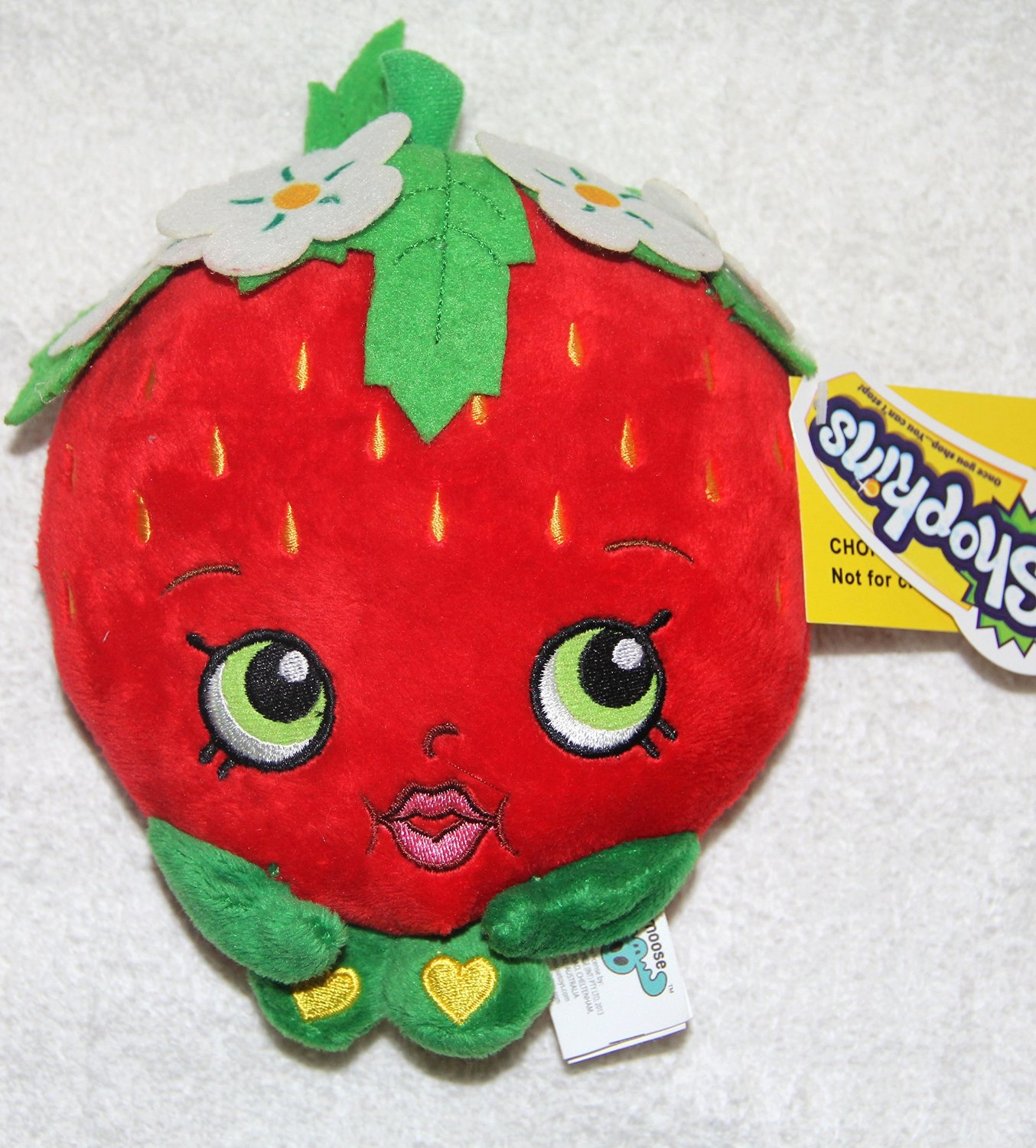 "Plush - Shopkins - Strawberry 6.5"" Soft Doll Toys New 149723"