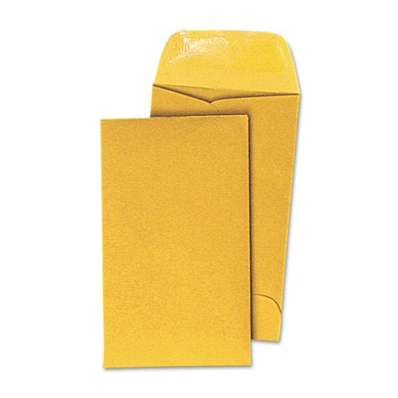 - Universal Kraft Coin Envelope, #5, 3 1/8 x 5 1/2, Light Brown, 500/Box -UNV35302