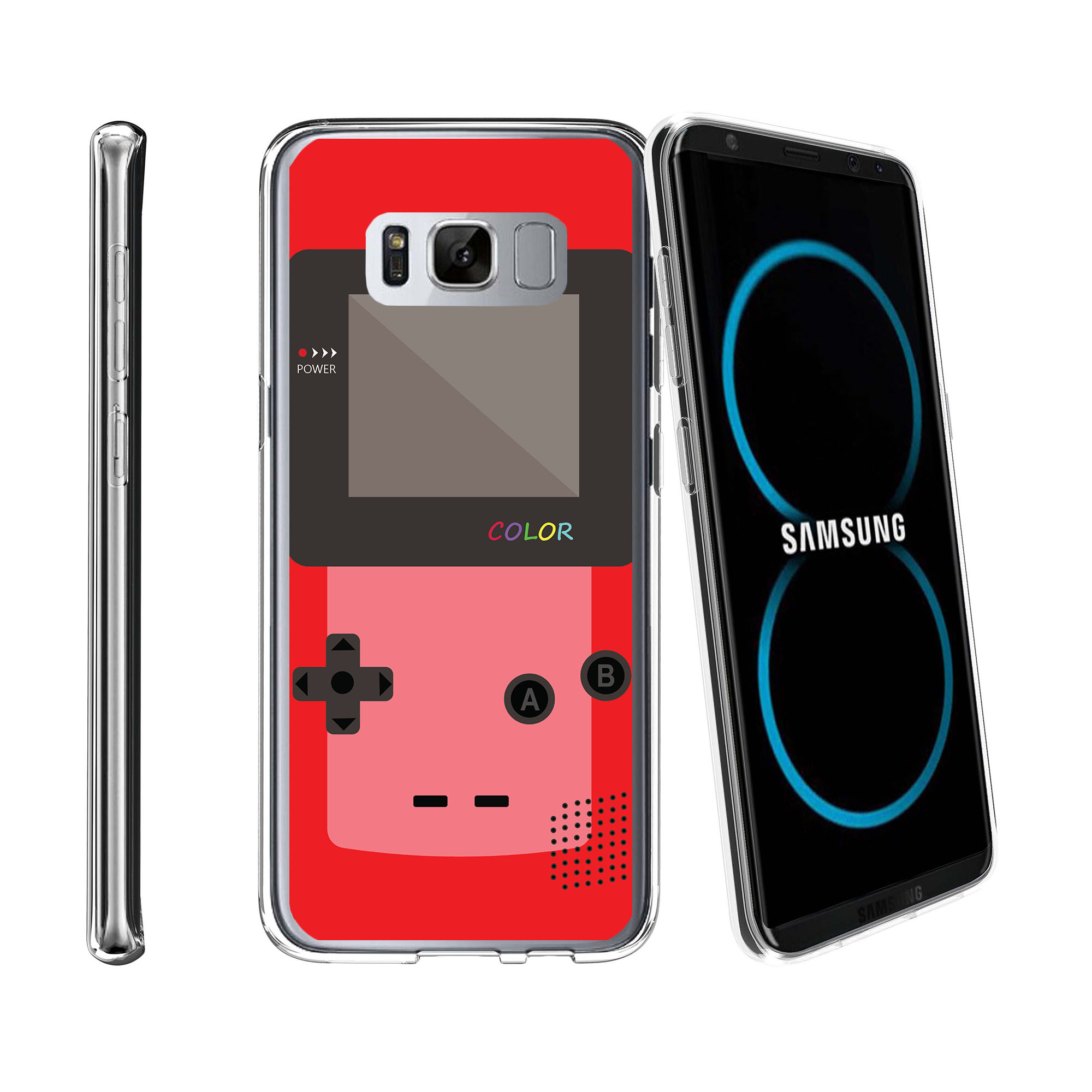 Case for Samsung Galaxy S8 Plus | Galaxy S8 Plus Transparent Silicone Case [ Flex Force ] Flexible Clear Case Gaming Collection