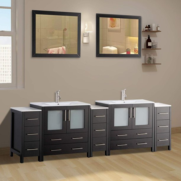 Double Sink Bathroom Vanity Combo Set