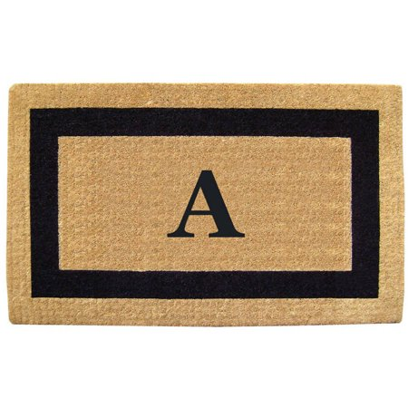 Inspired Accents Heavy Duty Coco Mat, Black Single Picture Frame, -