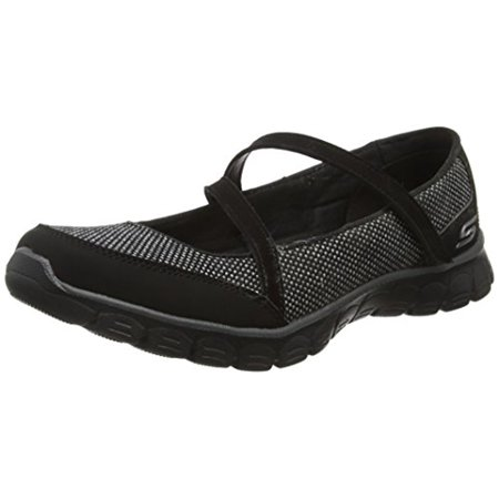 22849 Black Skechers Shoe Memory Foam Women Flex Sporty Casual Mary Jane Sneaker 22849BLK
