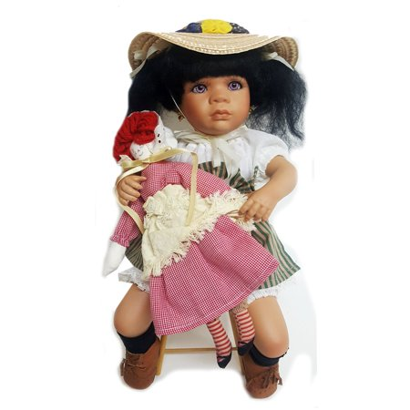 JCPenney Fine Porcelain African-American Doll  Jodie  by Linda Steele 15  Nice Collector's Doll. Would make a great gift.