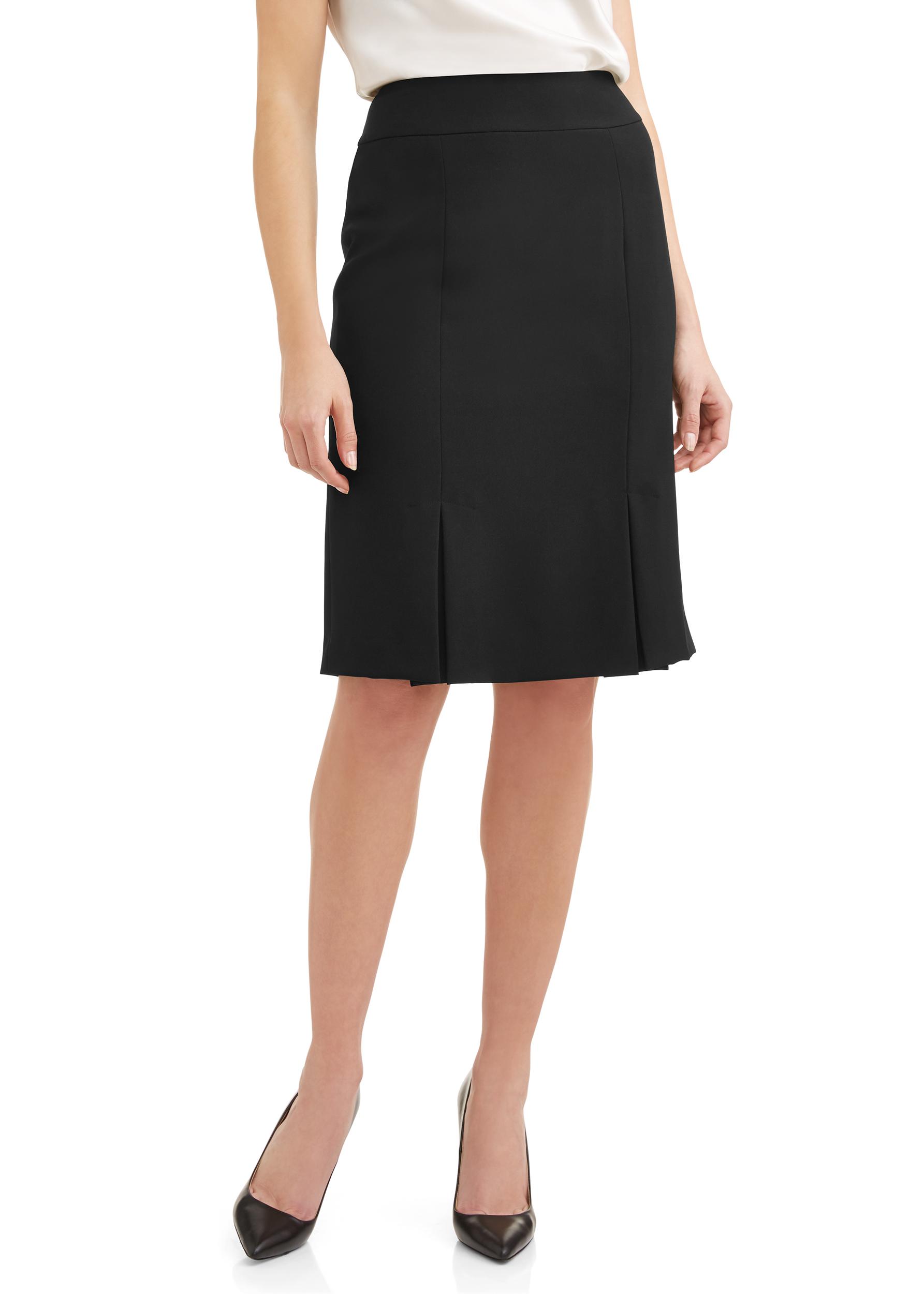 Women's Essential Vented Hem Crepe Skirt