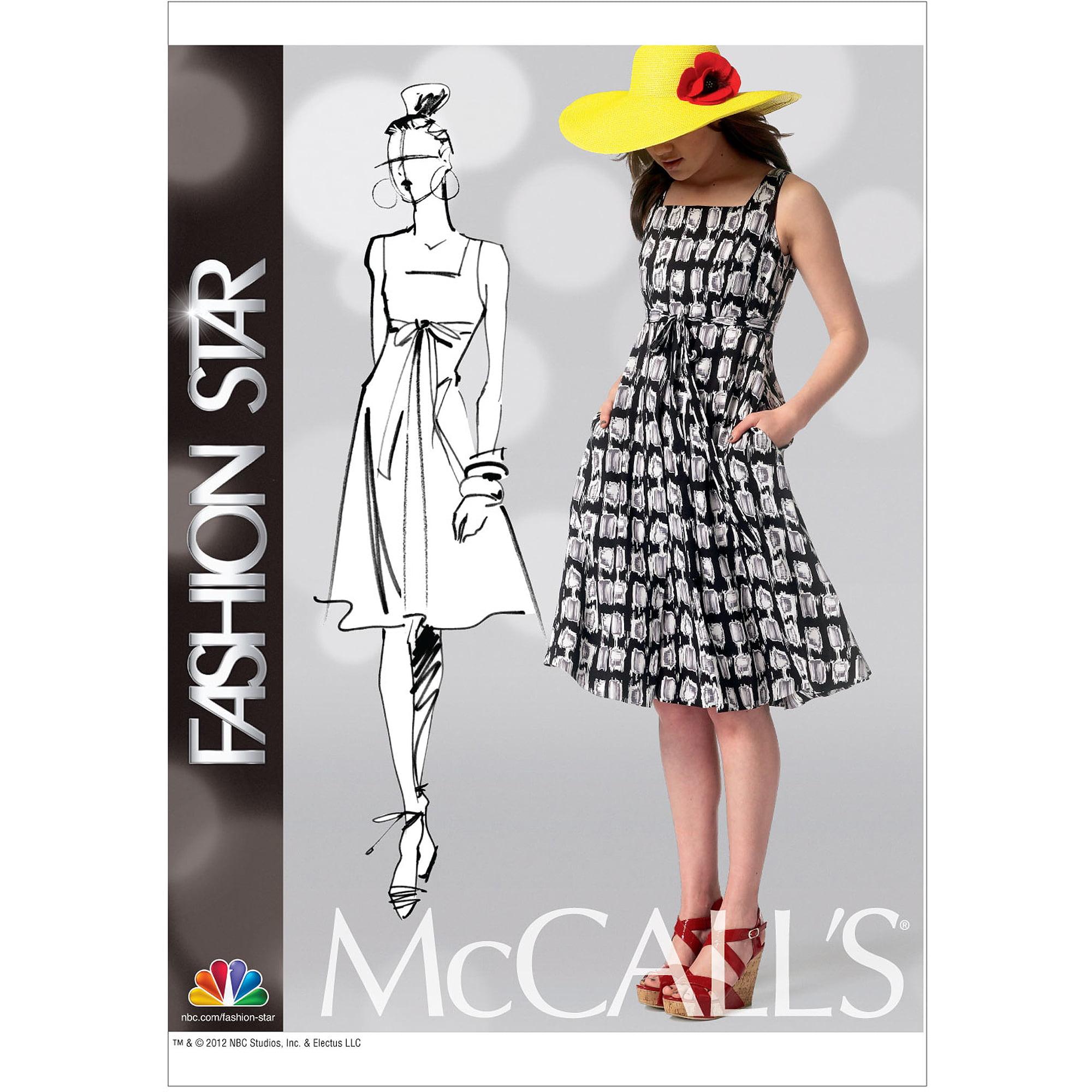 McCall's Pattern Misses' Dress and Belt, F5 (16, 18, 20, 22, 24)