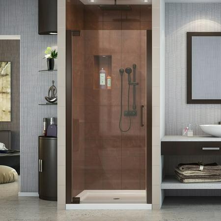 Bronze Frameless Shower Door - DreamLine Elegance 28 3/4 - 30 3/4 in. W x 72 in. H Frameless Pivot Shower Door in Oil Rubbed Bronze