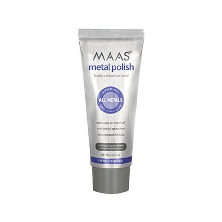 Maas International 91403 Metal Polish, Lavender Scent, 2-oz.