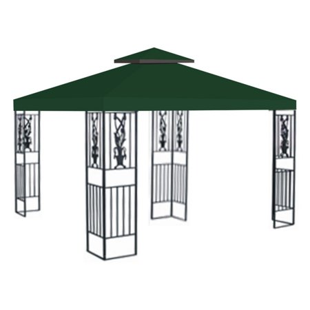 Sunrise 10 x 10 ft. Gazebo Replacement Double Tier Canopy Cover