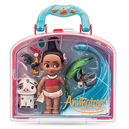 Double Doll Case (Disney Animator's Collection Moana Mini Doll Play Set New with Case)