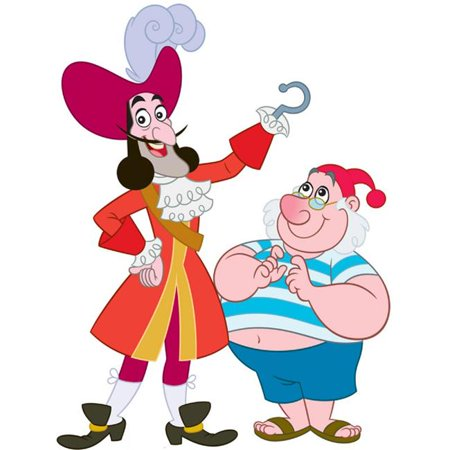 66 in. x 50 in. Captain Hook and Mr. Smee](Captain Hook And Smee)