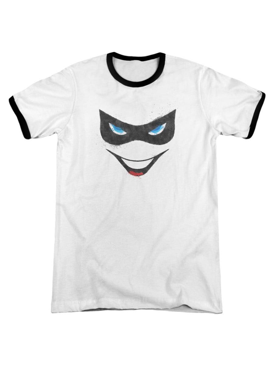 Quinn Of Diamonds Adult Work Shirt Batman