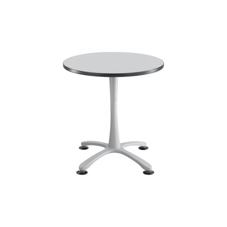 GRSL ChaCha Office Conference Inch Round Shape Gray Laminate - 30 inch round office table