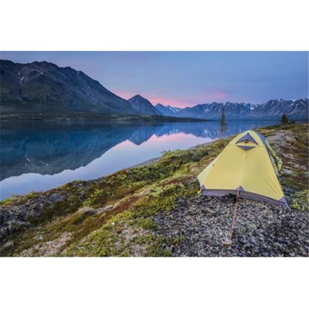 Scenic View of Lower Twin Lake with A Backpacking Tent in The Foreground & Sunset Lake Clark National Park & Preserve Poster Print by Carl Johnson, 38 x 24 - Large - Twin Lakes Park Halloween