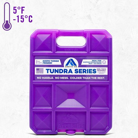 Long-Lasting Ice Pack for Coolers, Lunches, Camping, Fishing, and More, Tundra Series by Arctic Ice, Reusable Large Ice Pack ()