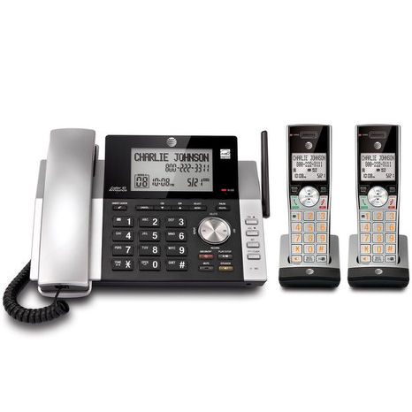 AT CL84215 Expandable Corded Cordless Phones with Caller ...
