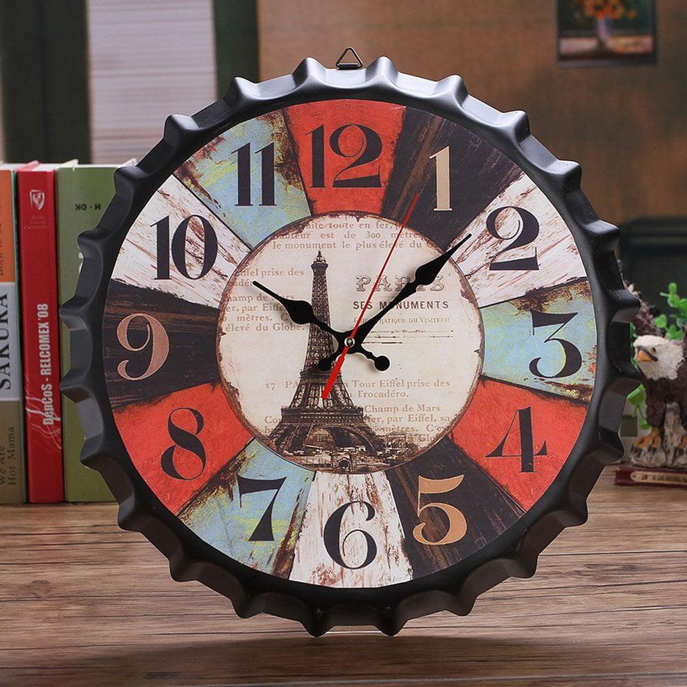 Classic 34cm Beer Bottle Cap Wall Clock Vintage Bar Home Coffee Shop Decor Walmart Canada