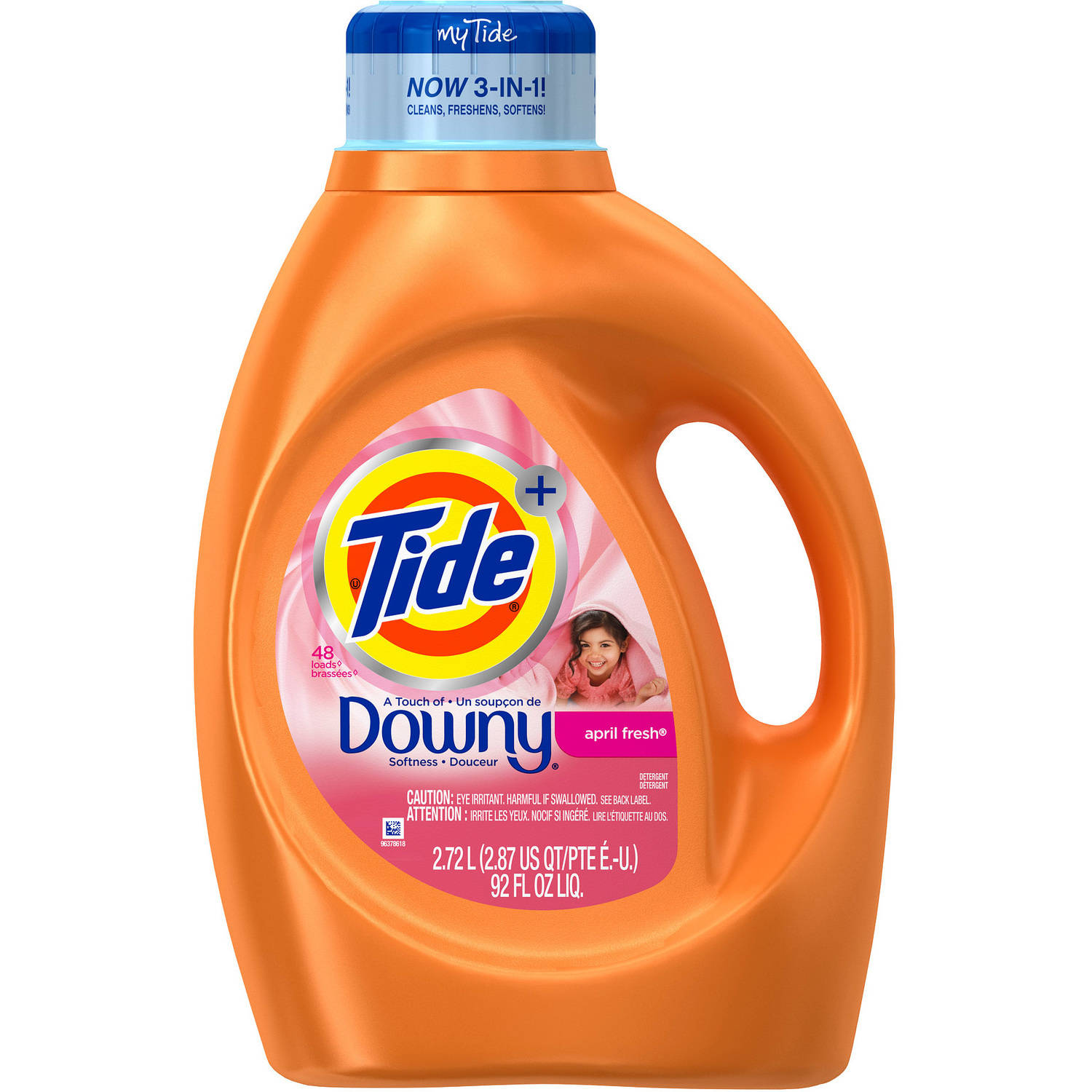 Tide Plus Downy April Fresh Scent Liquid Laundry Detergent, 48 Loads 92 oz