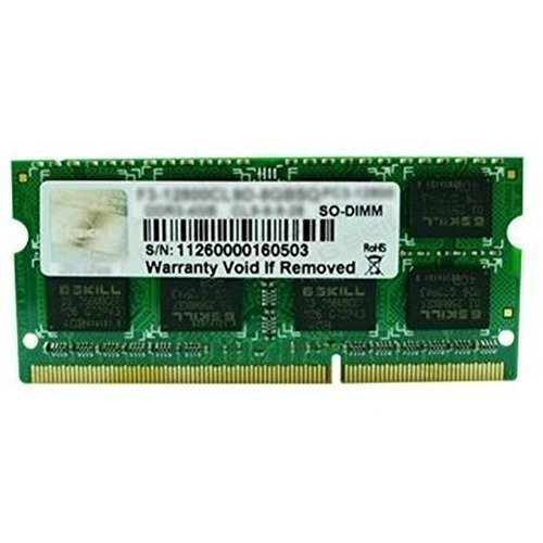 G.SKILL Standard Series 8GB 204-Pin SO-DIMM DDR3 1333 (PC3 10600) Laptop Memory F3-1333C9S-8GSA